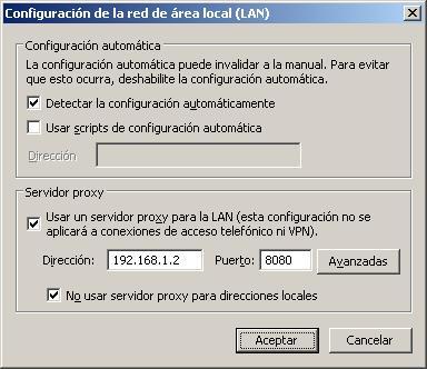 configuracion internet explorer firefox